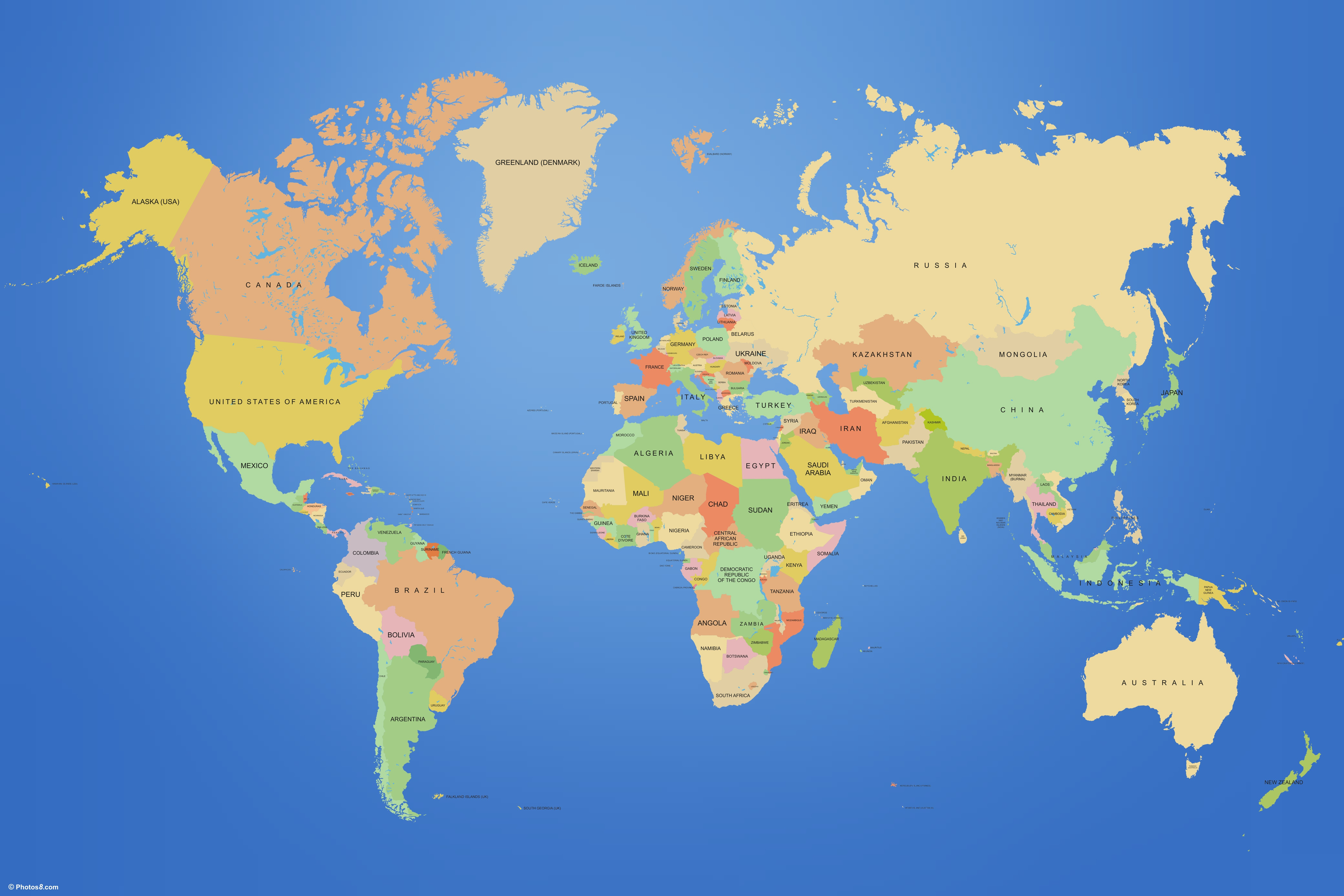 Political Map of the World …